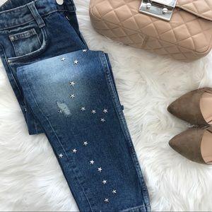 Zara Jeans - Zara Star Studded Mid Rise Jeans